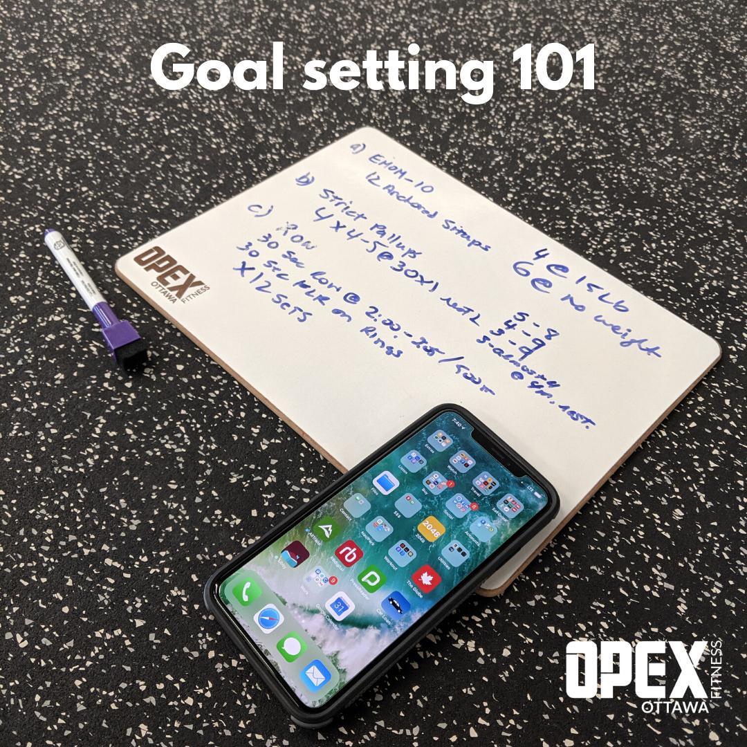 Goal setting plan